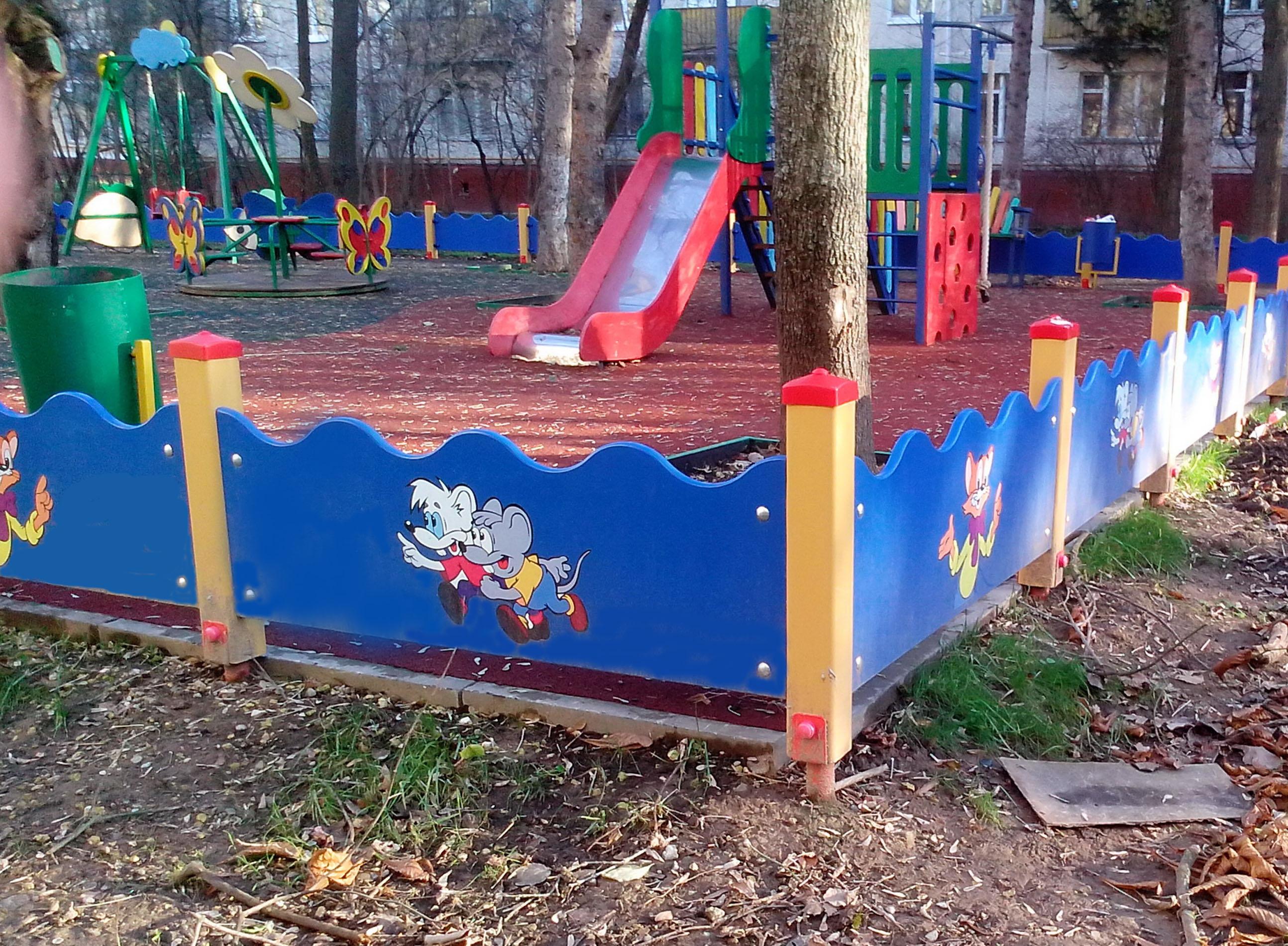 Забор детской площадки своими руками 35